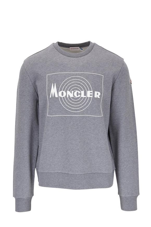 Moncler Gray & White Logo Crewneck Sweatshirt