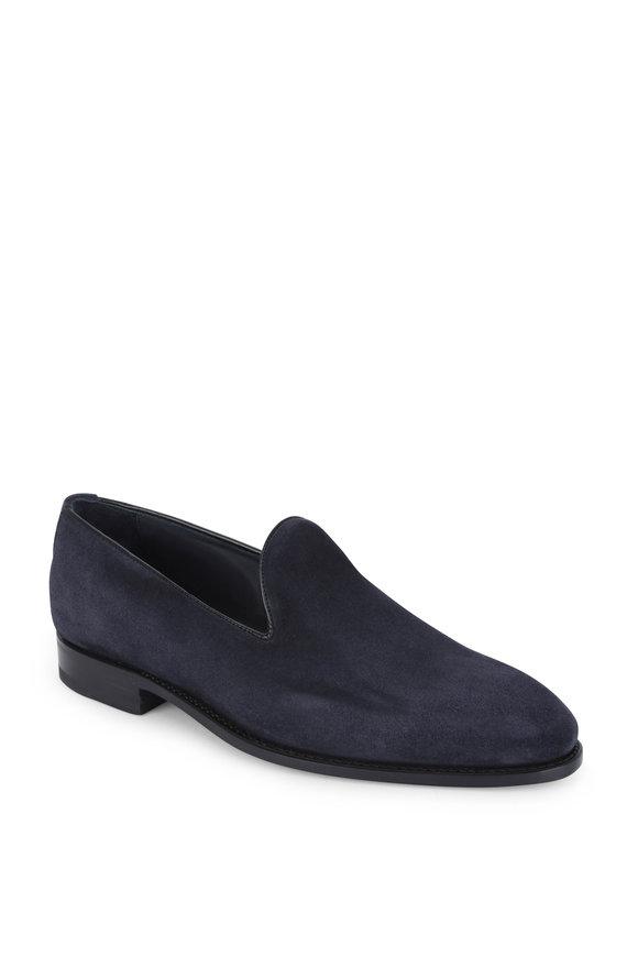 Bontoni Concerto Navy Blue Suede Loafer