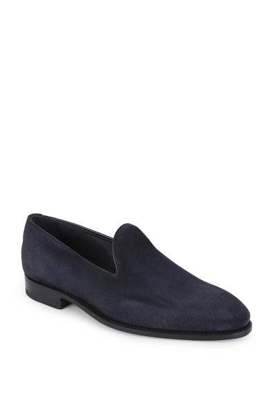 Bontoni - Concerto Navy Blue Suede Loafer