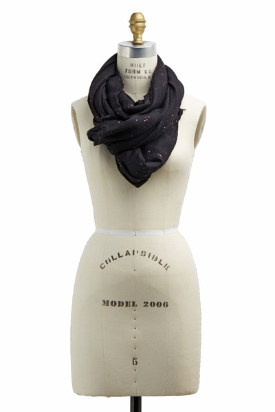 Brunello Cucinelli - Exclusively Ours! Black Cashmere & Silk Scarf