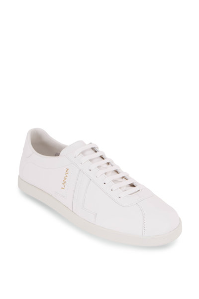Lanvin - Glen White Leather Low-Top Sneaker