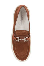 Salvatore Ferragamo - Saturday Brown Sugar Suede Bit Loafer