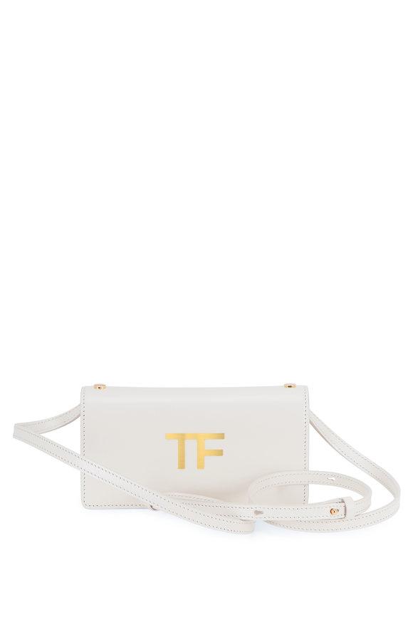 Tom Ford TF Chalk Silk Leather Mini Crossbody