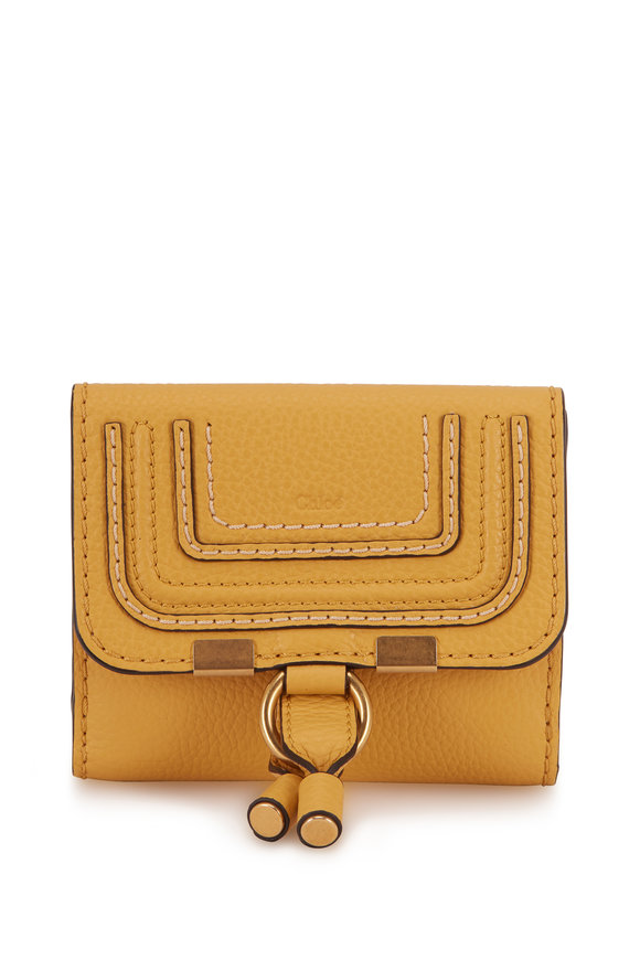 Chloé Marcie Honey Gold Leather Small Wallet