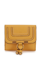 Chloé - Marcie Honey Gold Leather Small Wallet