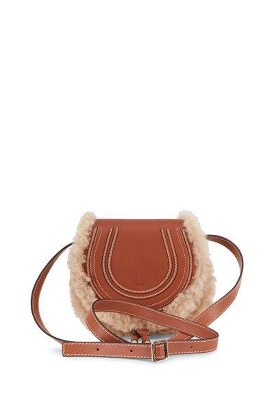Chloé - Marcie Caramel Leather & Shearling Mini Crossbody