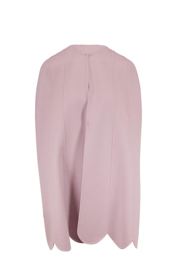 Valentino Lilac Wool & Cashmere Scallop Hem Cape