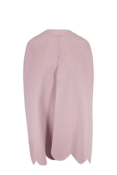 Valentino - Lilac Wool & Cashmere Scallop Hem Cape