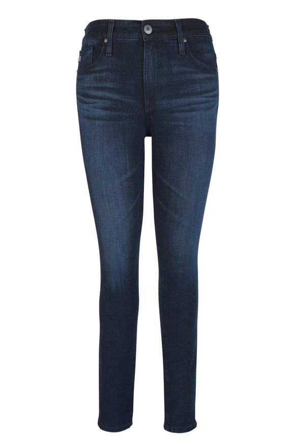 AG - Adriano Goldschmied Farrah Dark Wash High-Rise Skinny Jean