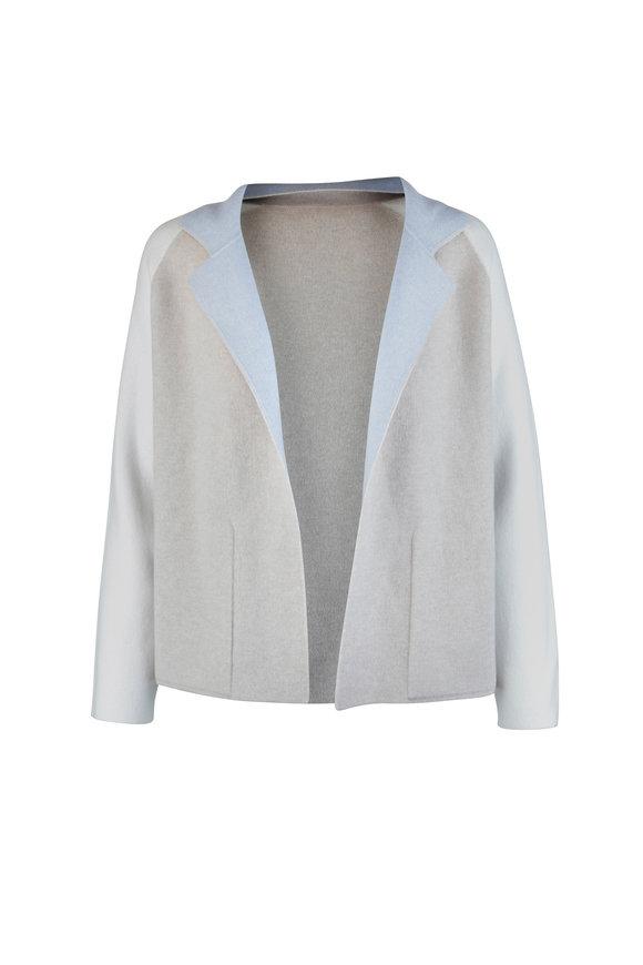 Akris Ice, Sand & Cream Reversible Cashmere Jacket