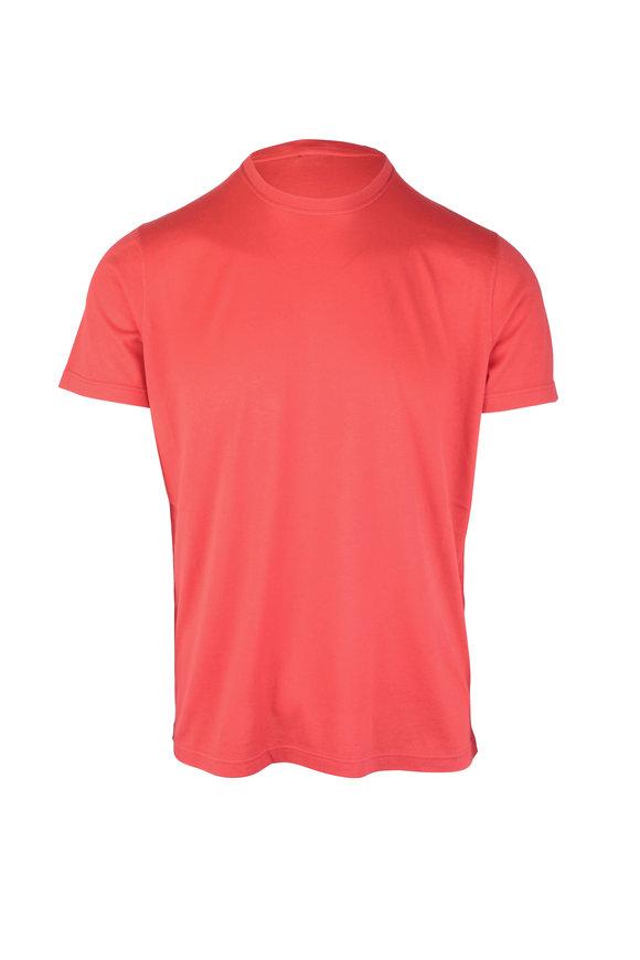 Kiton Red Cotton & Cashmere Short Sleeve T-Shirt