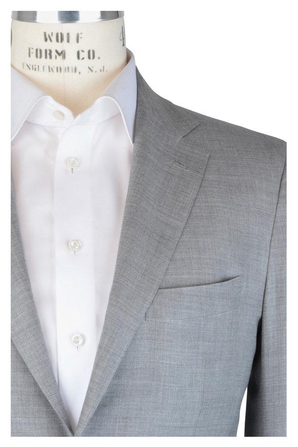 Kiton Light Gray Cashmere Suit