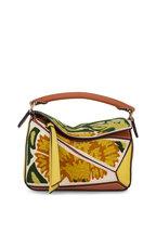 Loewe - Puzzle Yellow Floral Tapestry Mini Bag