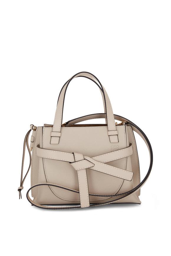 Loewe Gate Oat Leather Mini Top Handle Bag