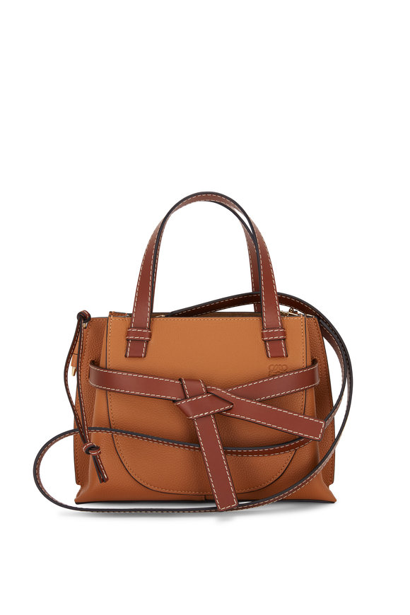 Loewe Gate Caramel Leather Mini Top Handle Bag