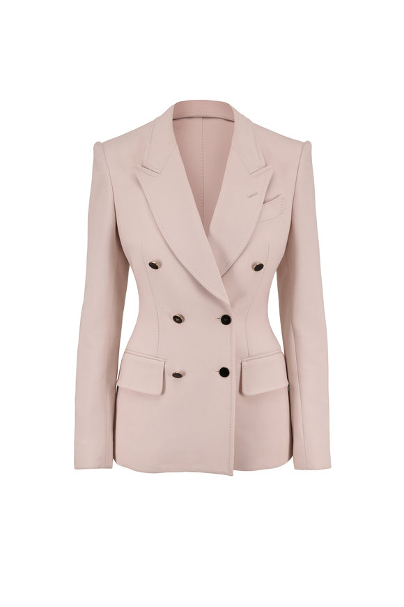 Tom Ford White Lily Double Splittable Stretch Wool Jacket