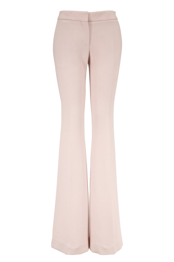 Tom Ford Off White Stretch Wool Flared Leg Trousers
