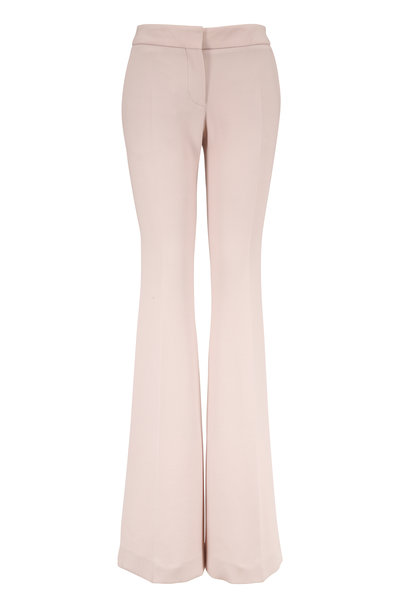 Tom Ford - Off White Stretch Wool Flared Leg Trousers