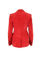Tom Ford - Orange Suede Two Button Blazer