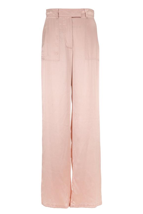 Tom Ford Sugar Pink Silk Wide Leg Pant