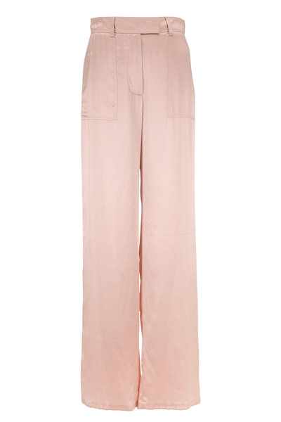 Tom Ford - Sugar Pink Silk Wide Leg Pant