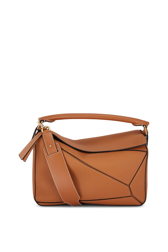 Loewe Puzzle Light Caramel Leather Top Handle Bag