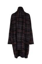 Le Kasha - Antigua Midnight Plaid Cashmere Sweater Coat