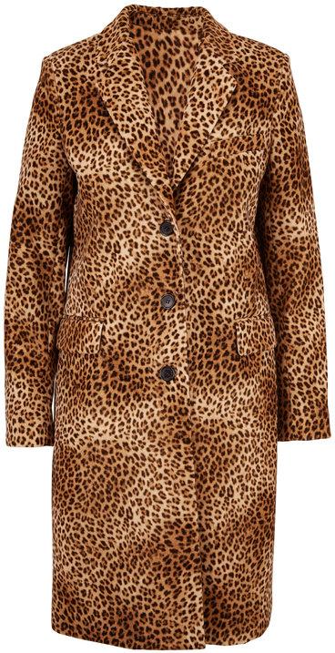 Nili Lotan Rosalin Golden Baby Leopard Print Coat