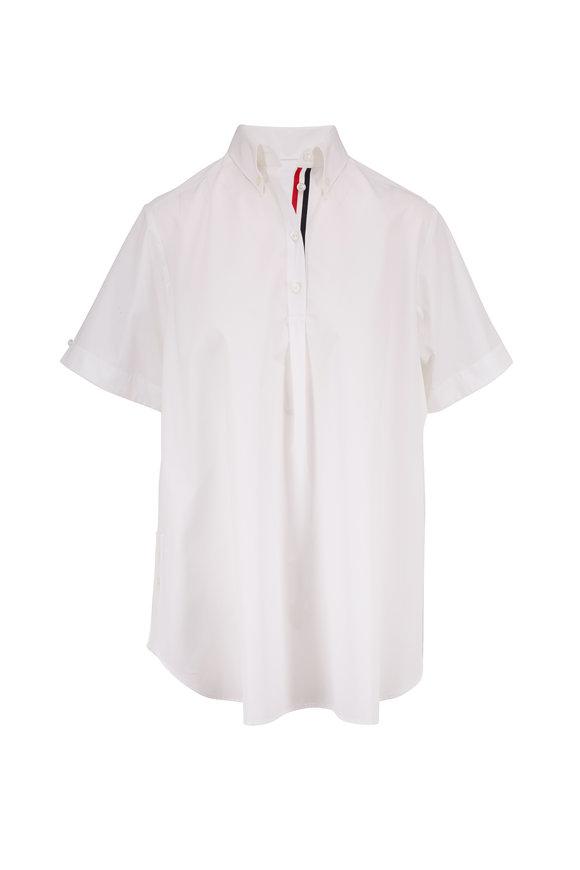 Thom Browne White Poplin Oversized Circle Shirtdress