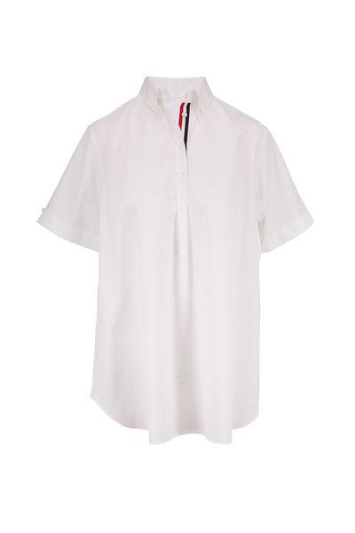 Thom Browne - White Poplin Oversized Circle Shirtdress