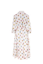 Carolina Herrera - White Multi Floral Tie Waist Shirtdress