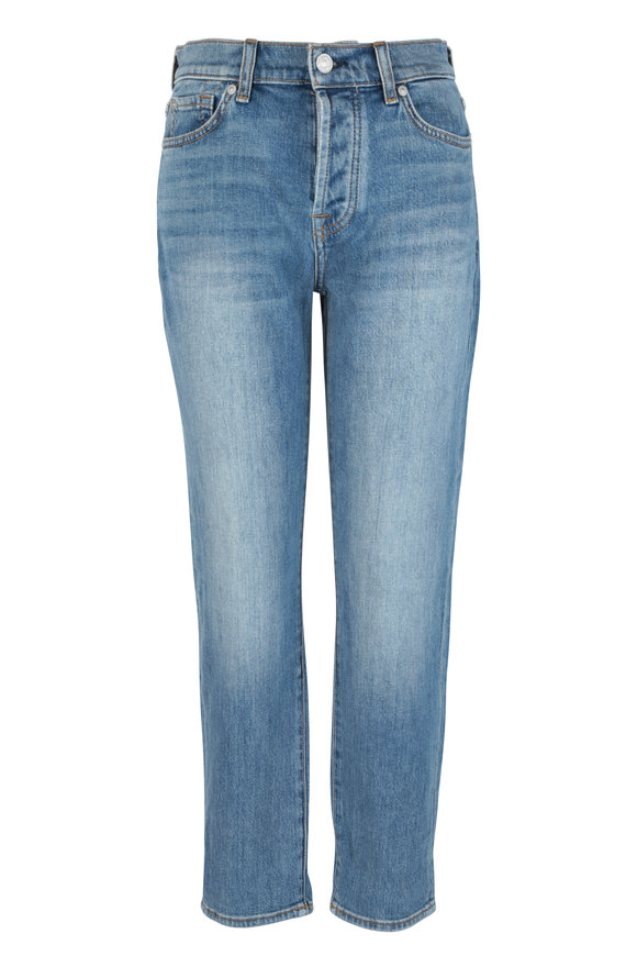 7 For All Mankind Josefina Light Blue Feminine Boyfriend Jean