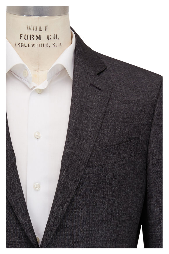 Ermenegildo Zegna Charcoal Textured Wool Suit
