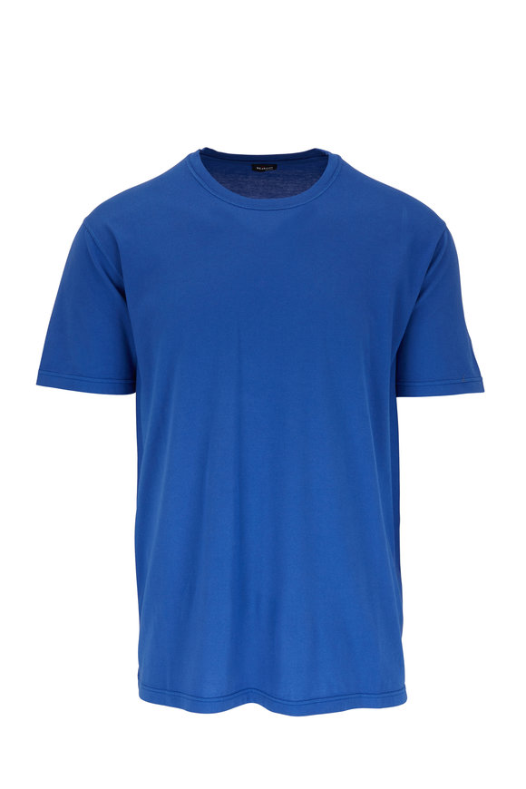 Kiton Royal Blue Short Sleeve T-Shirt