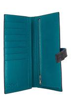 Loewe - Dark Lagoon Grained Leather Large Vertical Wallet