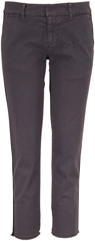 Nili Lotan East Hampton Charcoal Side-Striped Pant