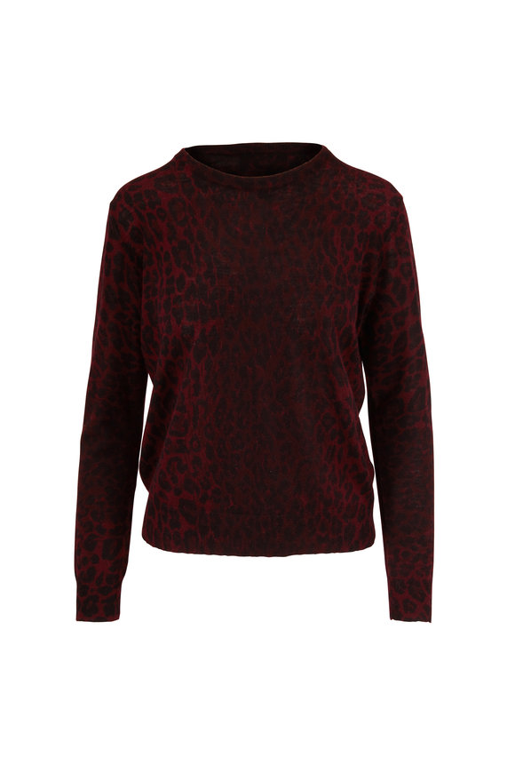 Nili Lotan Abbey Shiraz Cashmere Leopard Print Sweater