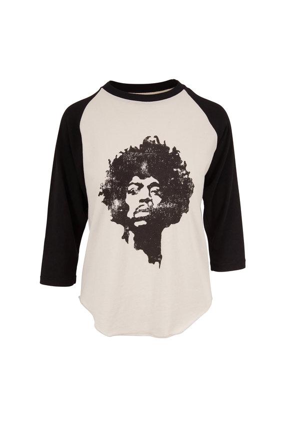 Nili Lotan Dirty White & Washed Black Jimi Hendrix T-Shirt
