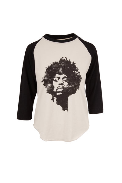 Nili Lotan - Dirty White & Washed Black Jimi Hendrix T-Shirt