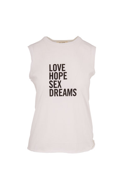 Nili Lotan - White Love Hope Sex Dreams Muscle Tee