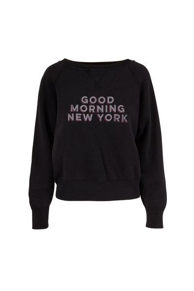 Nili Lotan - Black Good Morning NY Sweatshirt