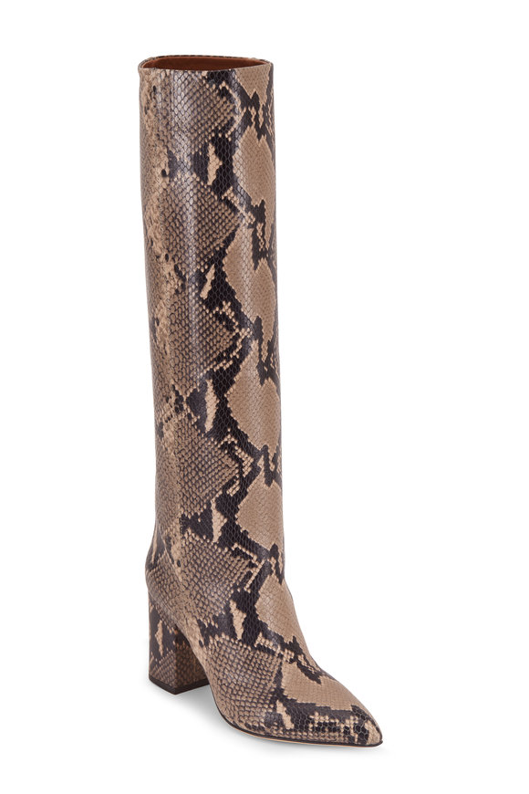 Paris Texas New Natural Python Embossed Tall Boot, 85mm
