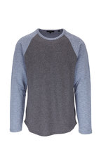 Vince - Infinity Blue & Gray Long Sleeve Baseball T-Shirt