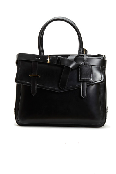 Reed Krakoff - Boxer Black Polished Leather Small Tote