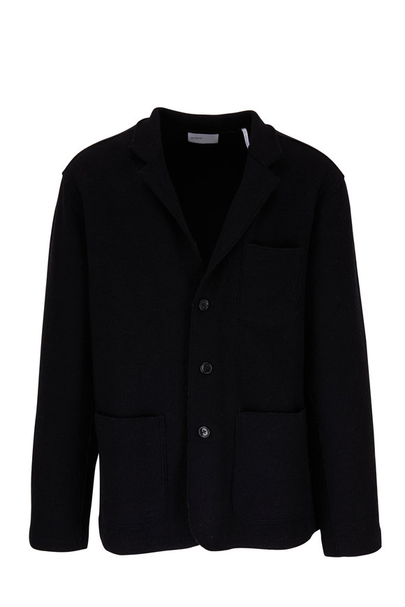 BLDWN Jude Black Wool Three Button Blazer