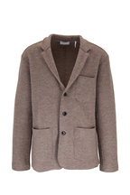 BLDWN - Jude Warm Gray Wool Three-Button Blazer