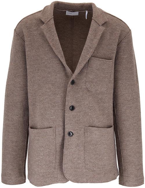 BLDWN Jude Warm Gray Wool Three-Button Blazer
