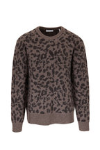 BLDWN - Nevill Taupe Cheetah Print Crewneck Sweater