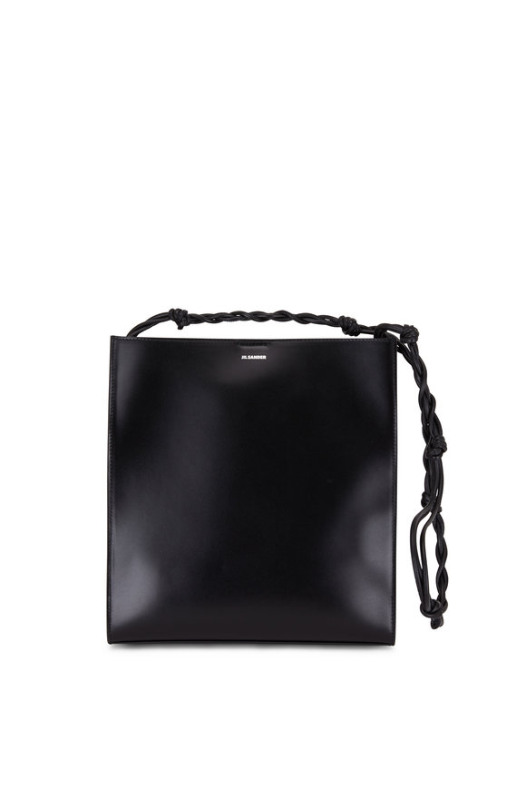 Jil Sander Tangle Black Leather Rectangle Medium Bag
