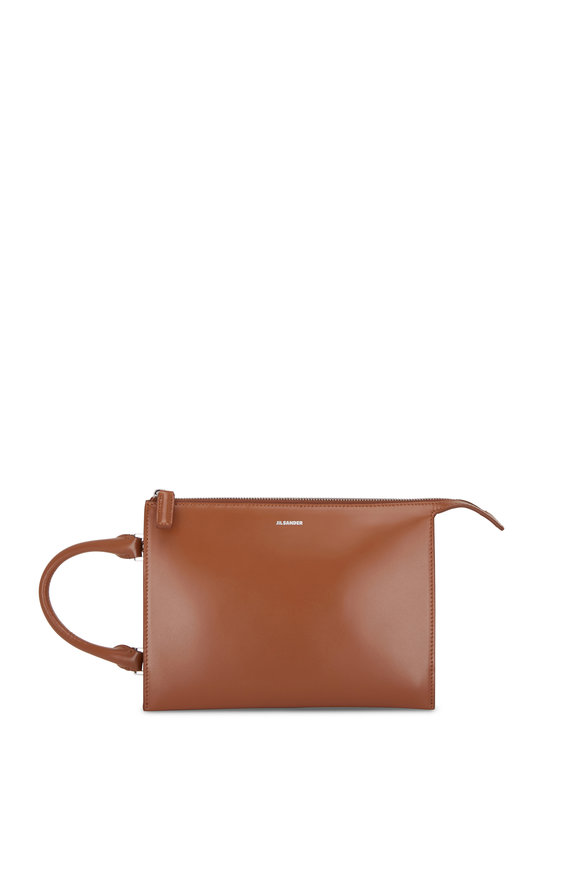 Jil Sander Tootie Caramel Leather Mini Top Handle Crossbody